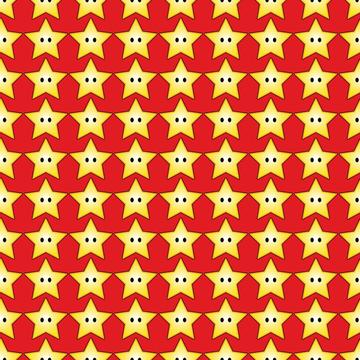 Super Mario Stars Red