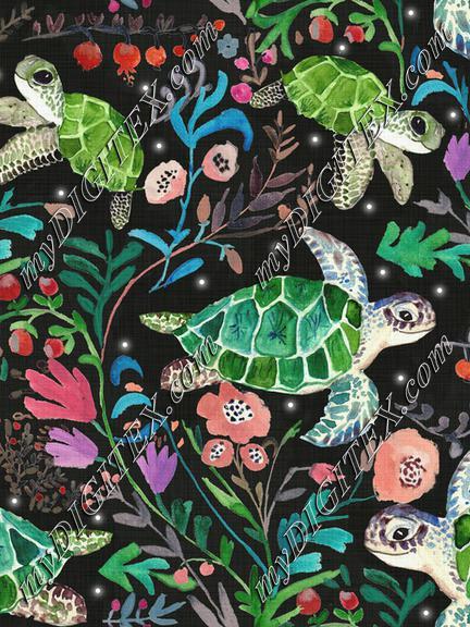 Hiding turtles black