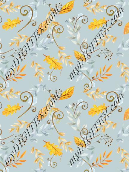 vintage_autumn_floral_tossed_blue_bkgd