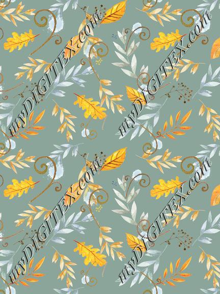 vintage_autumn_floral_tossed_sage_green_bkgd