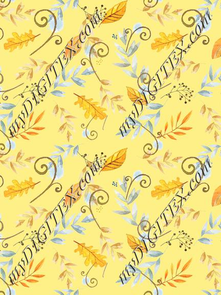 vintage_autumn_floral_tossed_yellow_bkgd