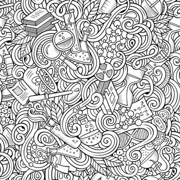 Science Coloring Pattern
