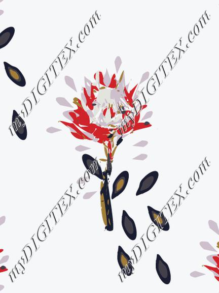 Native flower with leaves-03