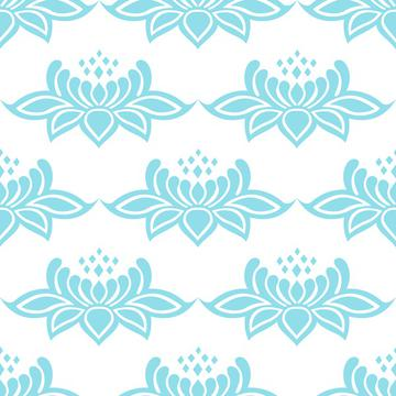 Lace damask blue flowers baroque victorian style