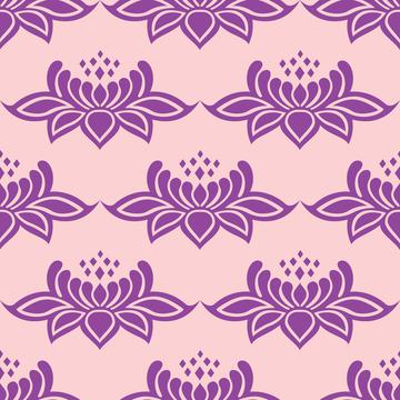 Lace damask violet flowers baroque victorian style