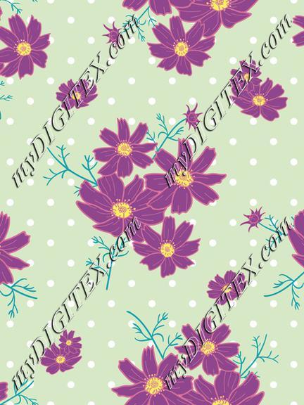cosmos flower polka dot3