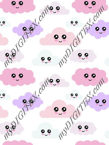Cute pastel clouds