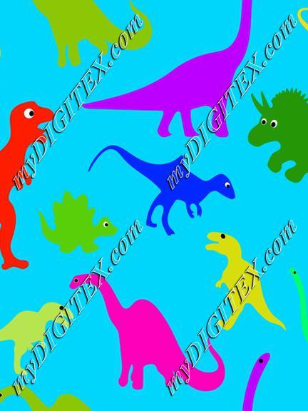 Dinosaurs, Dinosaur, Trex, T-rex, light blue
