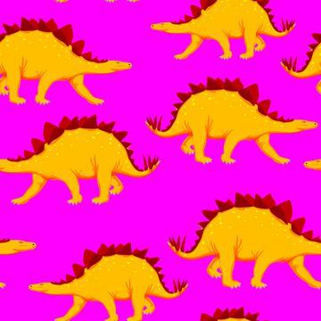 Dinosaurs, Dinosaur, Trex, T-rex, yellow pink