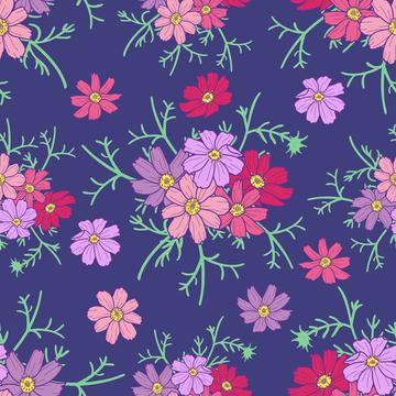 cosmos flower navy