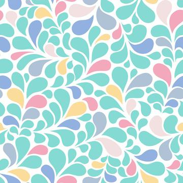 Splash pastel color flourishes ornamental style
