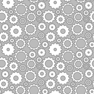 gears on grey background