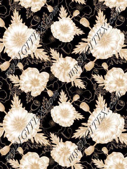 Poppy gold black