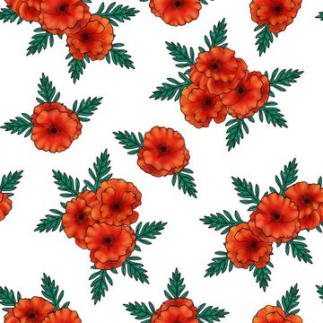 Poppy bouquets white