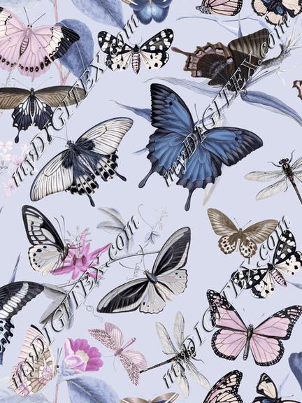 Pastel Vintage Butterflies