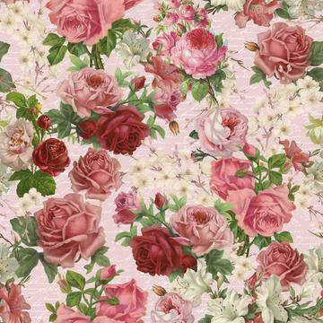 Vintage Roses Blush Pink