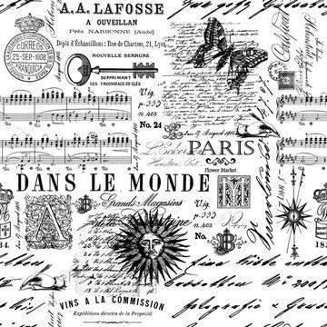 Vintage Script And Ornaments