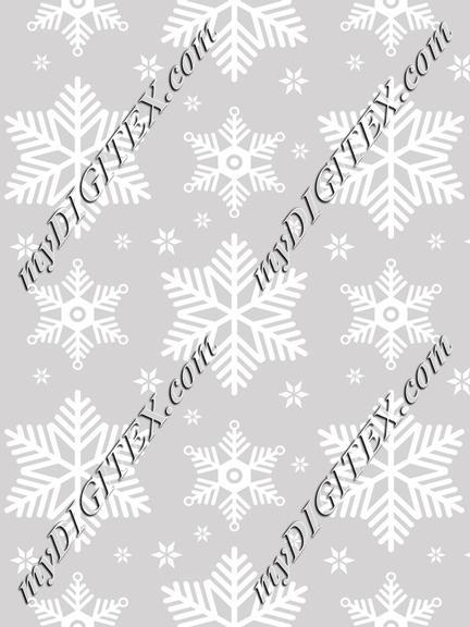 Snowflakes grey