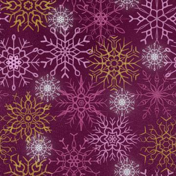 Snowflake burgundy