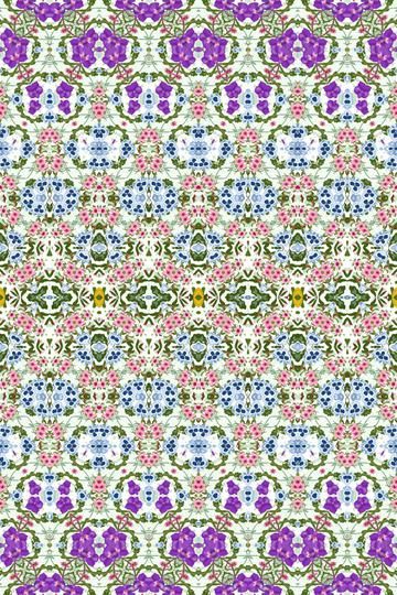 Geometric Fashion Print Purple Blue Pink Floral