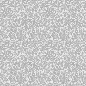 Soft Greys - Damask, Acanthus