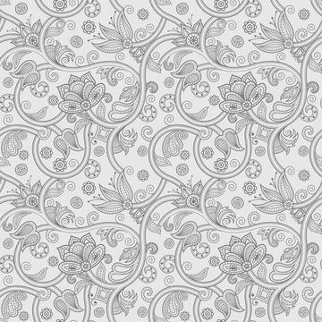Soft Greys - Paisley