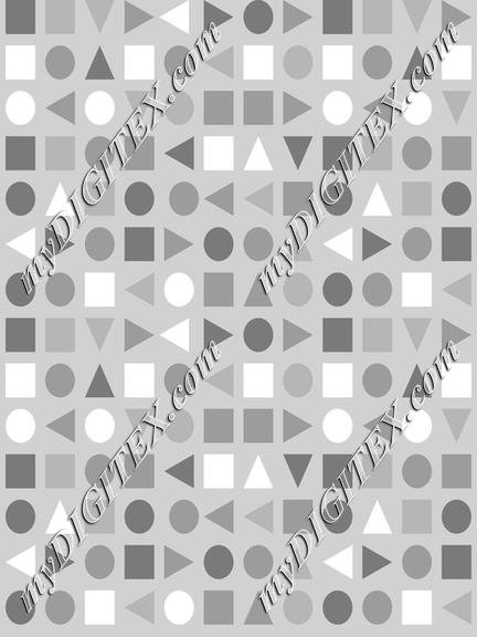 Soft Greys - Geometric Shapes