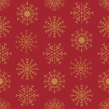 Snowflake red gold