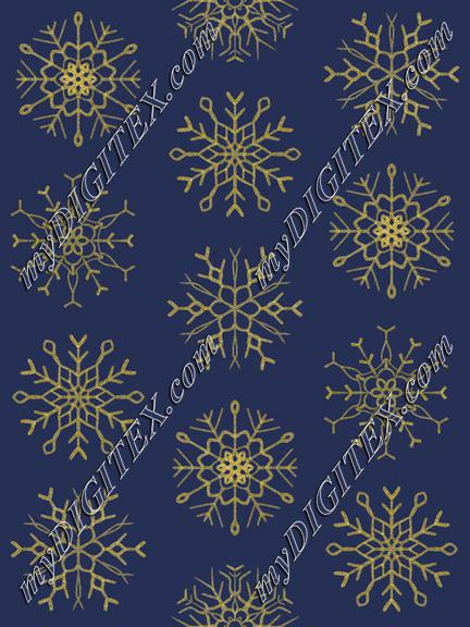 Snowflake navy gold