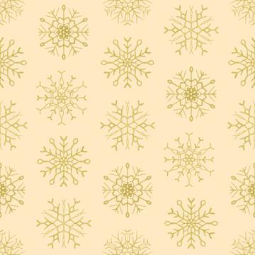 Snowflake beige gold