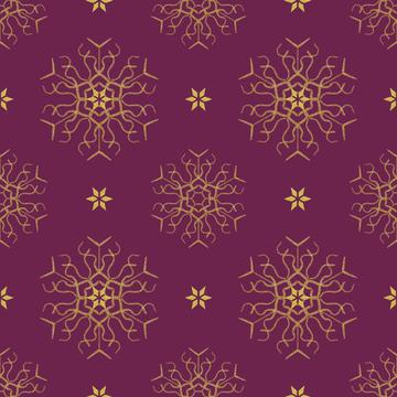 snowflake burgundy gold2