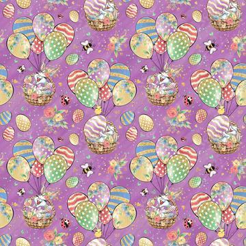Bunny Fun Purple 30x30cm