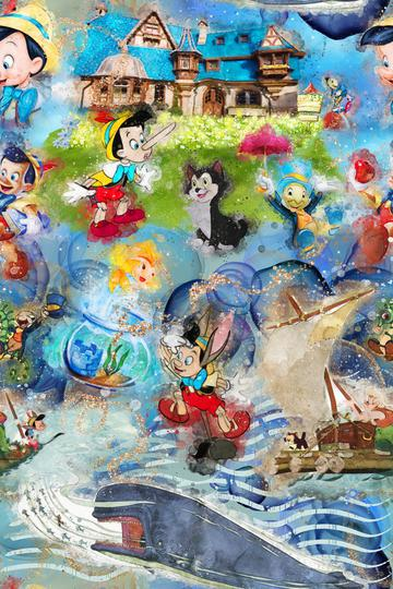 Watercolour Pinocchio