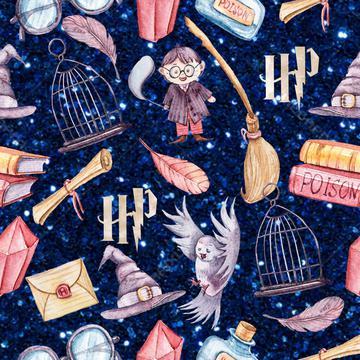 Harry Potter Navy Glitter