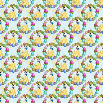 Snow White Easter Egg Circle Blue