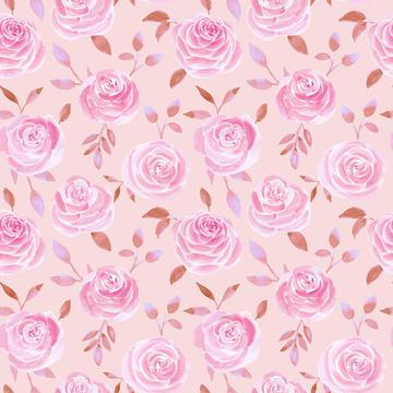 Roses pink brown2