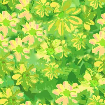 green yellow pink floral