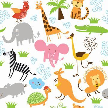 Jungle animals pattern