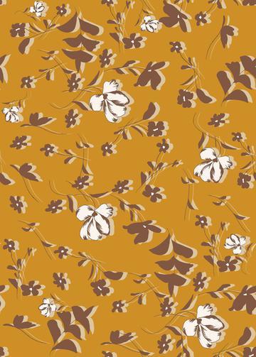 Flat floral hand print