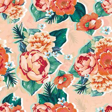 elegant floral print