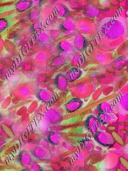collage floral in fuschia