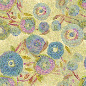 Blue Floral Impression