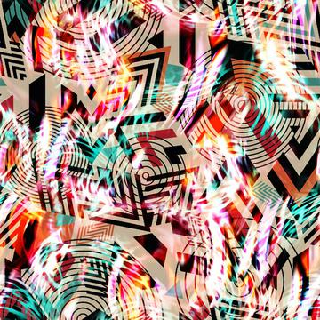 Fitness abstract print