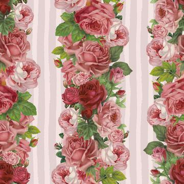 Vintage Rose Stripes