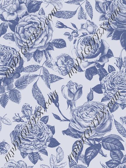 Vintage Roses Blue