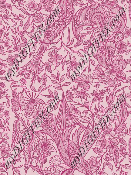 Vintage Flower Pattern Pink