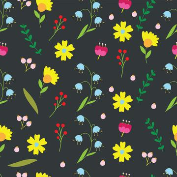 Flowers on a grey background