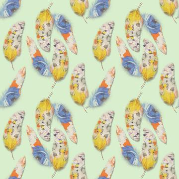 Painted feathers pattern