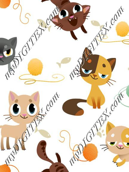 cats on white, cute cats