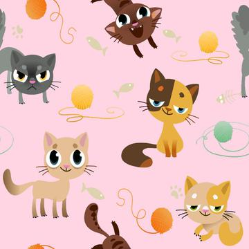 cats on pink, kidswear